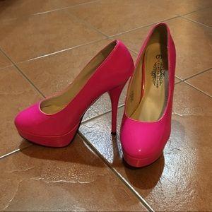 Hot Pink Platform Stilettos